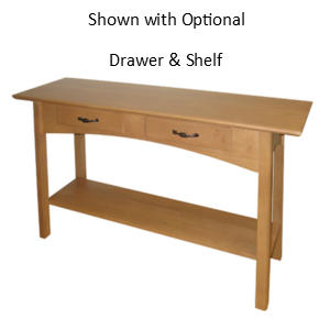 Mill Creek Sofa Table With Shelf