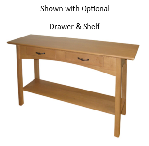 Mill Creek 285 2 Sofa Table With Drawers And Shelf 300