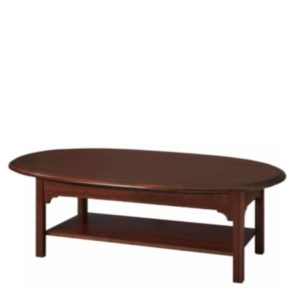 Chippendale: Oval Coffee Table With Shelf