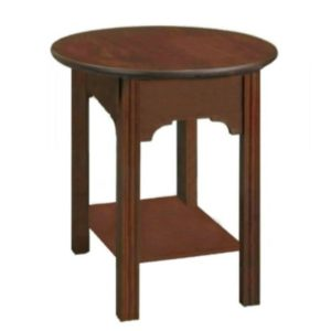 Chippendale: Round End Table With Shelf