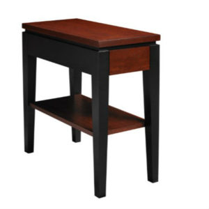 Urban Expressions: Chairside Table With Shelf