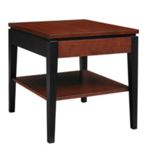 Urban Expressions: Rectangular End Table With Shelf