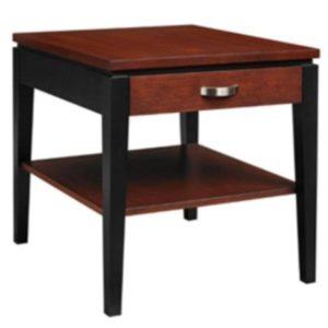 Urban Expressions: Rectangular End Table With Drawer & Shelf