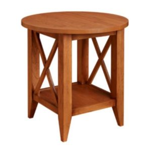 Monterey: Round End Table With Shelf