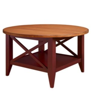 Monterey: Round Coffee Table With Shelf