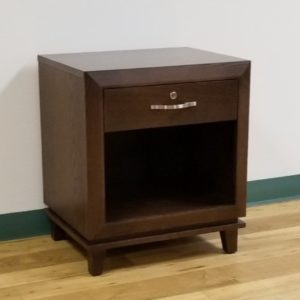 Custom Open Nightstand With Drawer