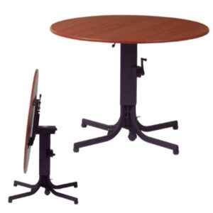 Adjustable Height Flip Top Pedestal Table