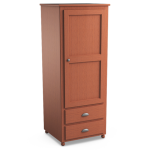 Aspen: Single Wardrobe With Two Drawers
