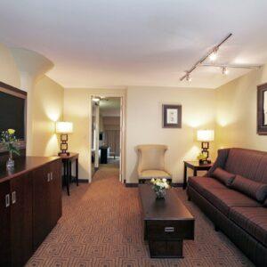 Atheneum Hotel Living Room