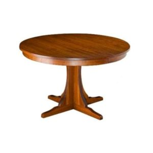 Custom Wood Pedestal Table