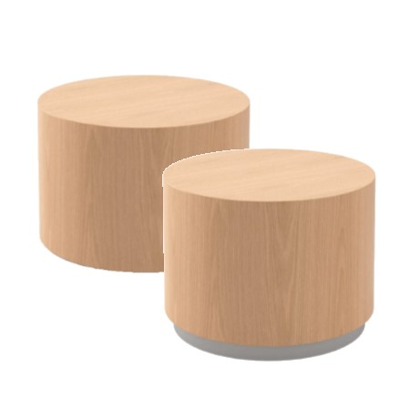 CYLINDER OCCASIONAL TABLES