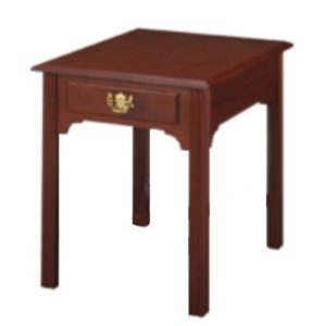 Chippendale: Rectangular End Table With Drawer