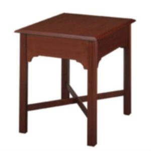 Chippendale: Rectangular End Table With Stretchers