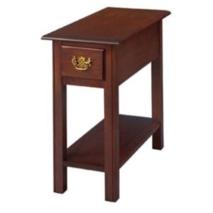 Chippendale: Chairside Table With Drawer & Shelf