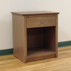 Custom Nightstand With Open Compartment & One Drawer