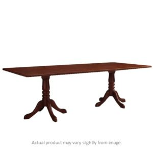 Double Wood Pedestal Table