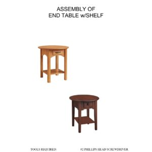 End Table With Shelf Assembly Instructions