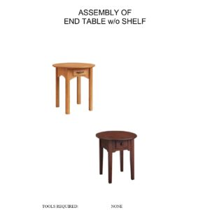 End Table Without Shelf Assembly Instructions