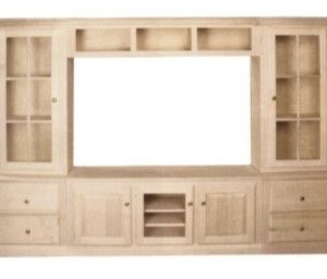 FLUTED ENTERTAINMENT WALL UNIT