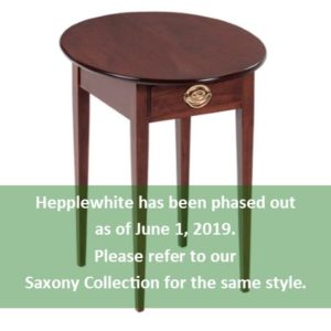 Hepplewhite: Oval End Table With Drawer