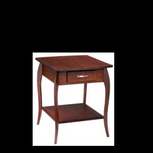 Harlo: Rectangular End Table With Drawer & Shelf