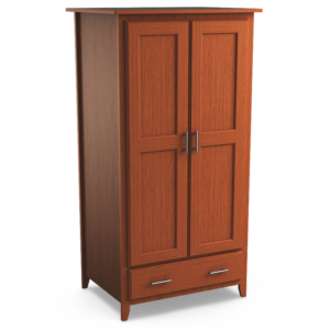 Kingston: Double Wardrobe With One Drawer