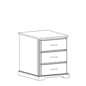 Kirkwood: Three Drawer Nightstand