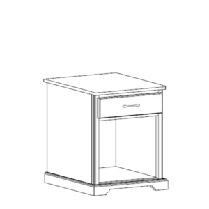 Kirkwood: Single Drawer Nightstand