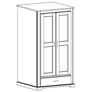 Kirkwood: Double Wardrobe With One Drawer