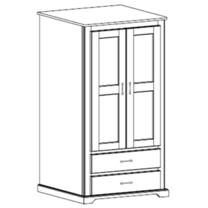 Kirkwood: Double Wardrobe With Two Drawers