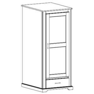 Kirkwood: Single Wardrobe With One Drawer