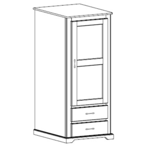 Kirkwood: Single Wardrobe With Two Drawers