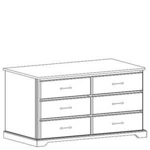 Kirkwood: Six Drawer Dresser