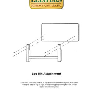 Headboard Leg Kit Attachment Instructions