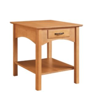 Mill Creek: Rectangular End Table With Drawer And Shelf