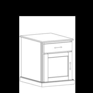 Manhattan: Drawer Door Nightstand