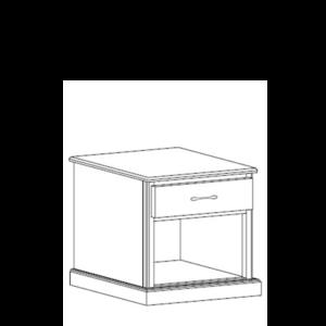 Manhattan: Single Drawer Nightstand