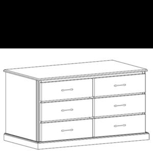 Manhattan: Six Drawer Dresser