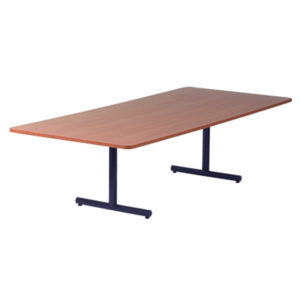 Double Metal Pedestal Table