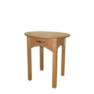 Mill Creek: Round End Table With Drawer