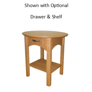 Mill Creek: Round End Table With Shelf