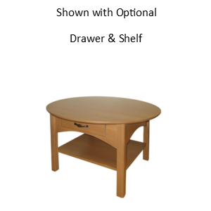 Mill Creek: Round Coffee Table With Shelf