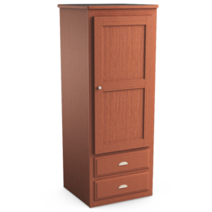 Oasis: Single Wardrobe With Two Drawers