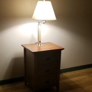 P2623SP9 – CUSTOM PASSAGES 3 DRAWER NIGHTSTAND WITH SWING ARM LAMP Stationary Image