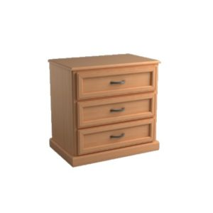 Brentwood: Three Drawer Chest