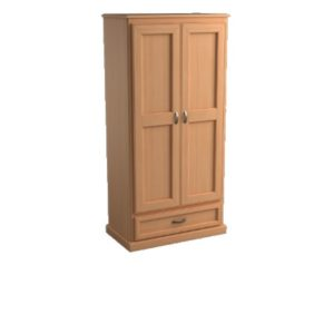 Brentwood: Double Wardrobe With One Drawer
