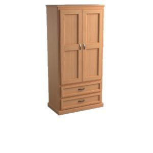 Brentwood: Double Wardrobe With Two Drawers