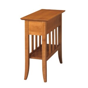 Passages: Chairside Table With Shelf