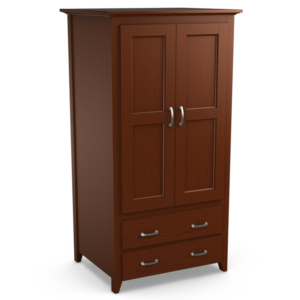 Passages: Double Wardrobe With Two Drawers