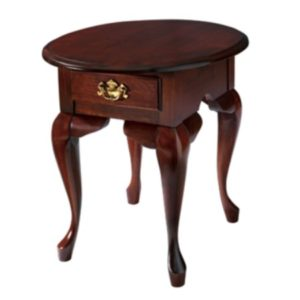 Queen Anne : Oval End Table With Drawer